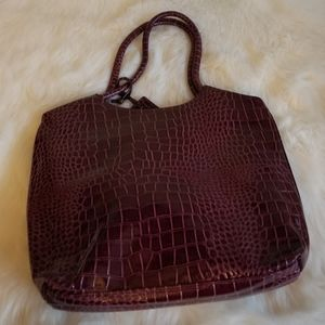 Neiman Marcus Croc-Embossed Tote Purse New